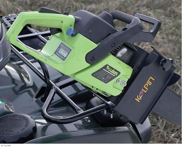 D Chainsaw Mount Press on Green Yamaha Rhino