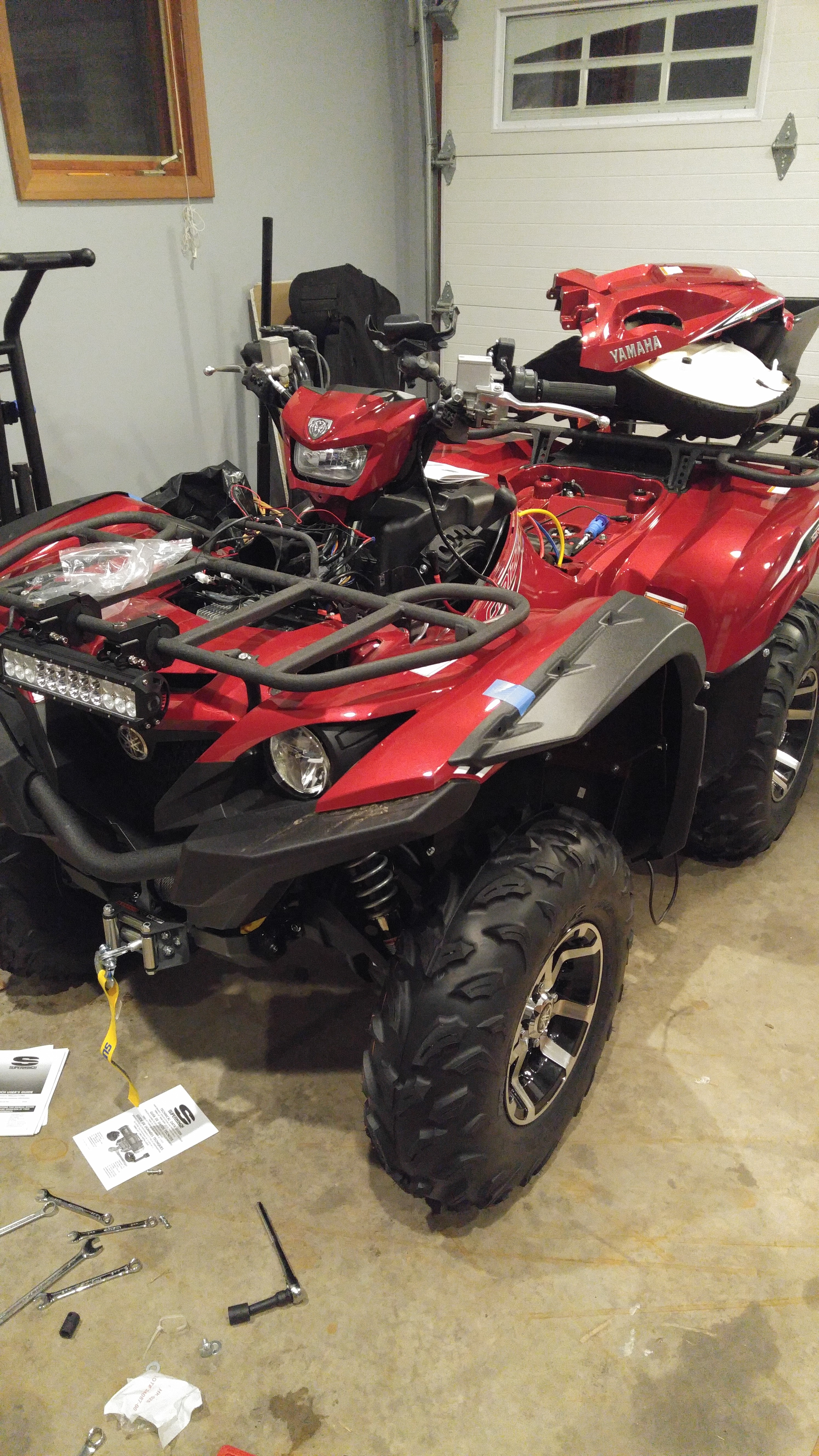 2016 grizzly with over fenders anyone yamaha grizzly for Yamaha grizzly atv