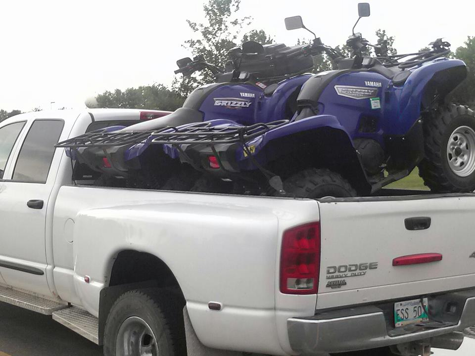 Atv Four Wheelers >> Need ideas: How to haul 2 Grizzles in a 8' truck bed - Page 3 - Yamaha Grizzly ATV Forum