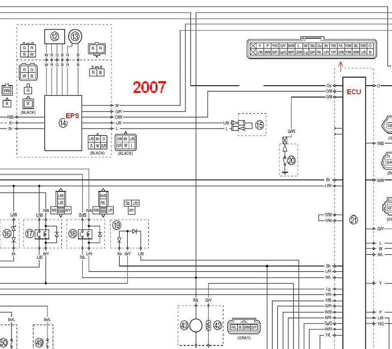 installing eps on my non powersteering griz yamaha grizzly atv forum click image for larger version 2007 wiring eps ecu 1 jpg views