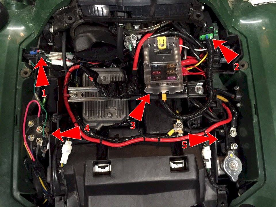 best place to wire winch? | yamaha grizzly atv forum  yamaha grizzly atv forum
