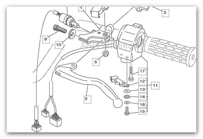 14156d1337834706 left lever switch w oem 4wire not 2wire 4 wire yamaha switch left lever switch w oem 4wire not 2wire page 2 yamaha 2007 grizzly 450 wiring diagram at bayanpartner.co