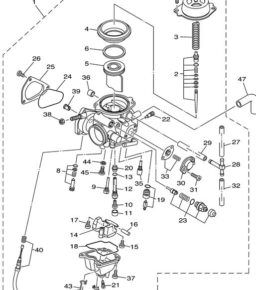 yamaha raptor 80 carburetor diagram  yamaha  free engine