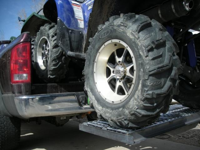 Atv Truck Ramps >> Need ideas: How to haul 2 Grizzles in a 8' truck bed ...