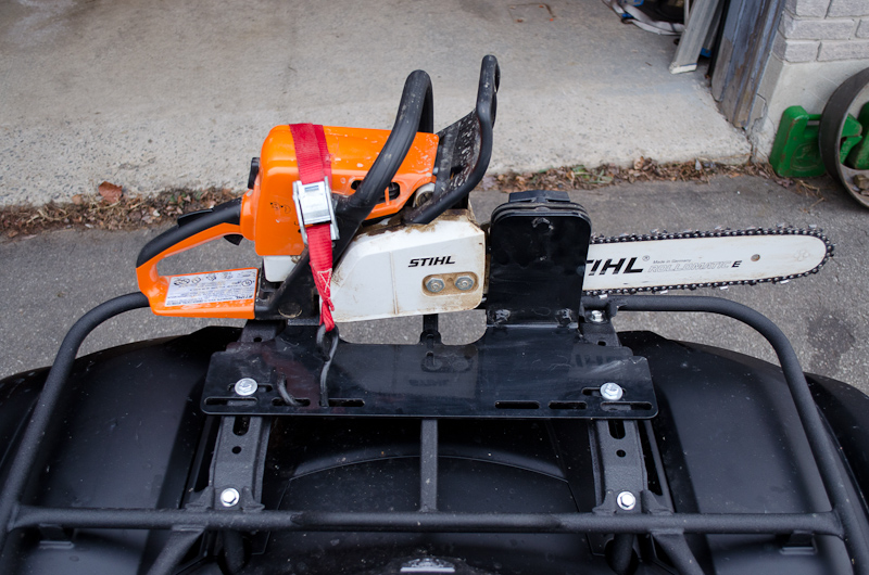 Chainsaw Mount Press Yamaha Grizzly Atv Forum
