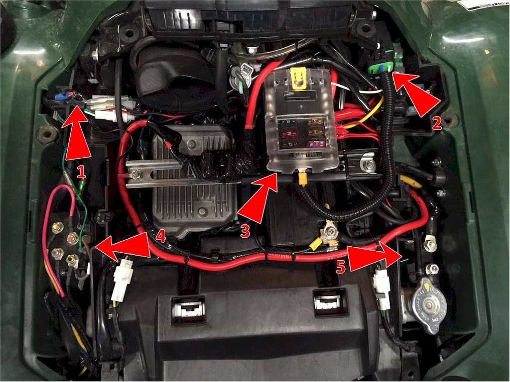 Installing Reciever Hitch On Yamaha Grizzly