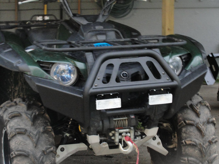 Birthday present installed warn bumper and trail lights yamaha click image for larger version name bumper 2g views 4022 size sciox Image collections