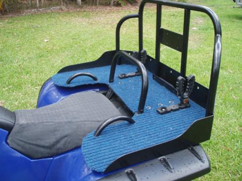 Rear Rack To Carry The Hound Yamaha Grizzly Atv Forum