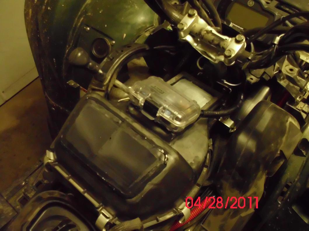 Pix of my air box mod - Yamaha Grizzly ATV Forum