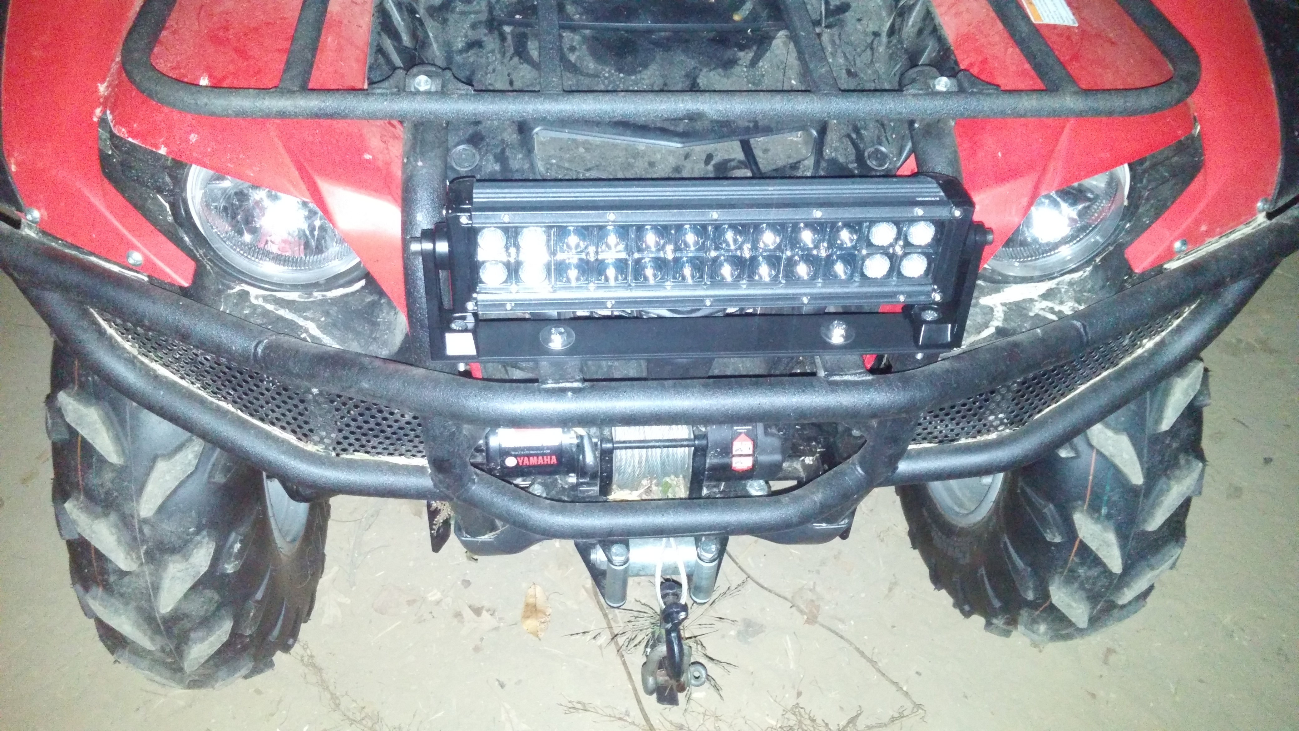 21368d1444842471 new light bar 14in opt7 cree led c2 front new light bar 14in opt7 cree led c2 yamaha grizzly atv forum opt7 light bar wiring harness at crackthecode.co