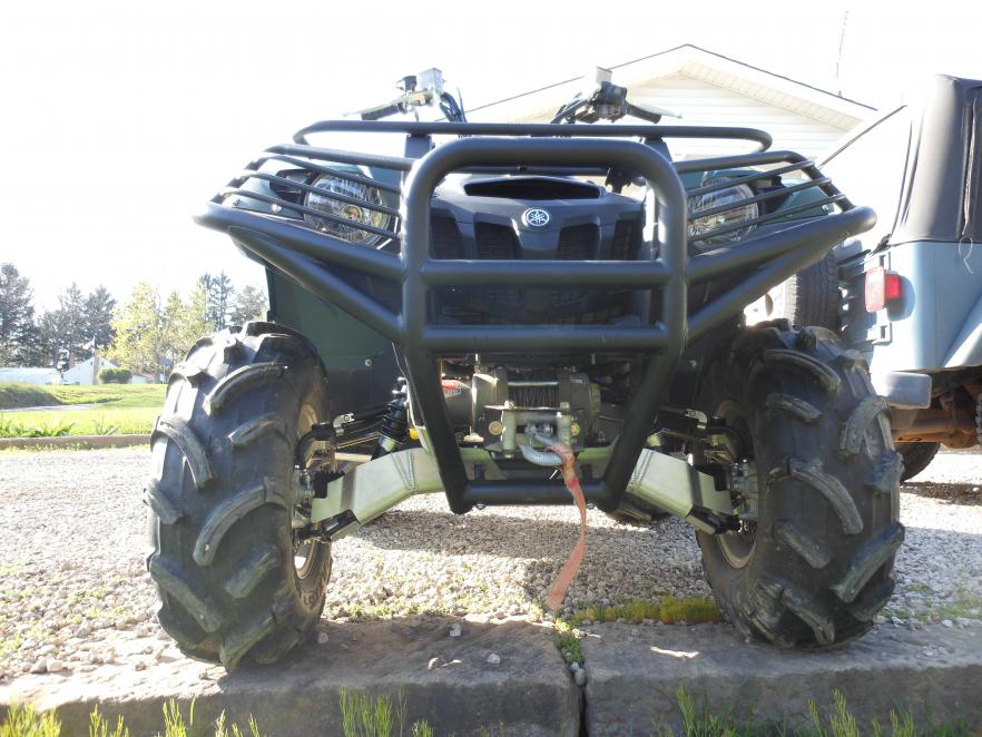 Moose bumper and ricochet skid plate yamaha grizzly atv forum click image for larger version name grizzly 004g views 6893 size sciox Image collections