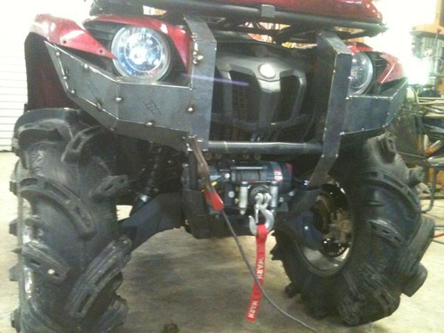 Custom bumper 09 grizzly yamaha grizzly atv forum click image for larger version name grizzly bumper 009g views 6001 size sciox Image collections