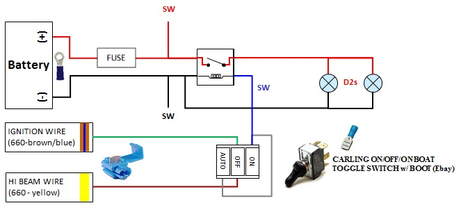 how to wiring your aftermarket lights yamaha grizzly atv forum click image for larger version grizzly lighting on off auto wiring schematics