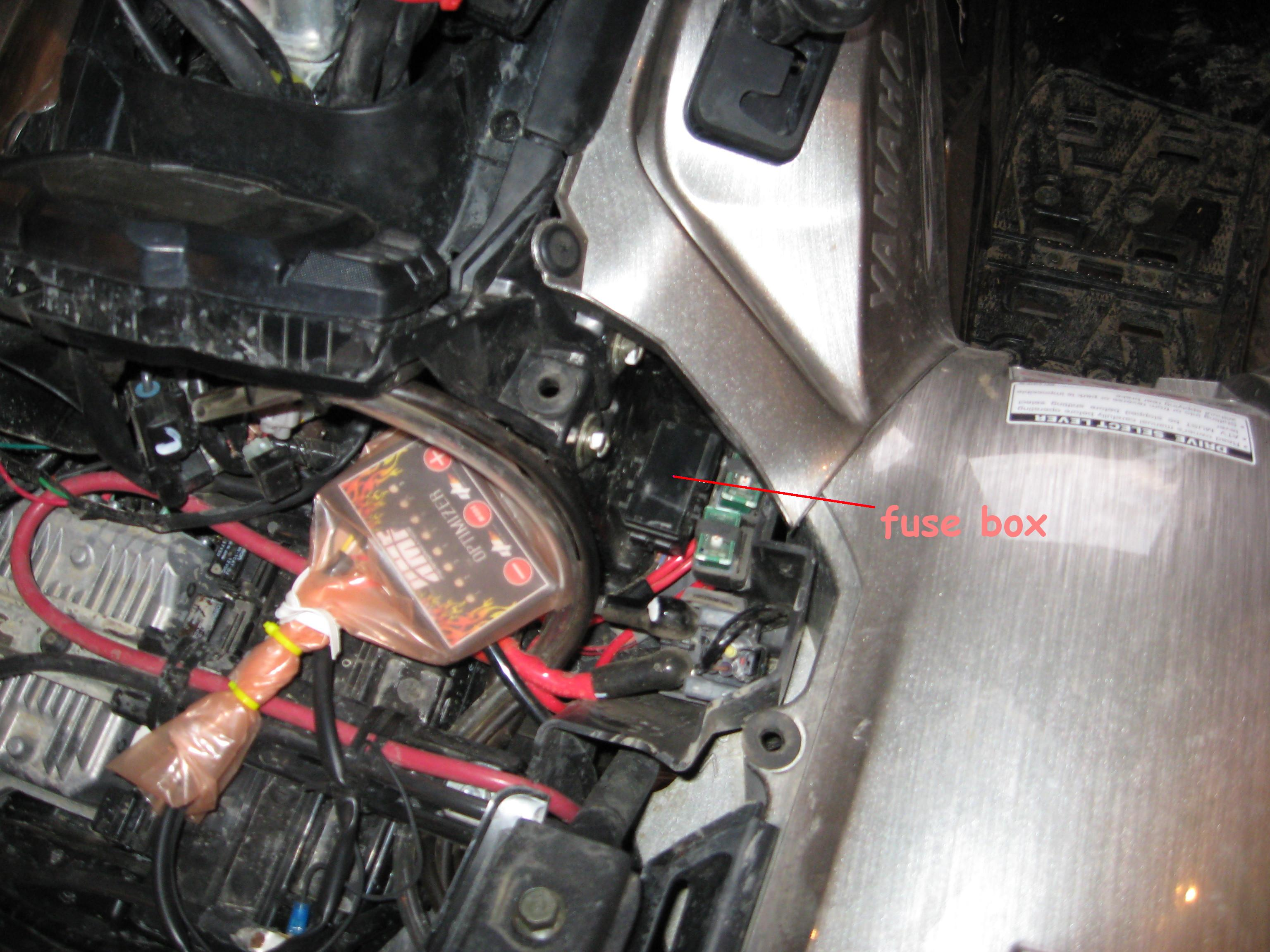 Yamaha Kodiak 450 Fuse Box Location : Help hmf gen optimizer got wet yamaha grizzly atv forum