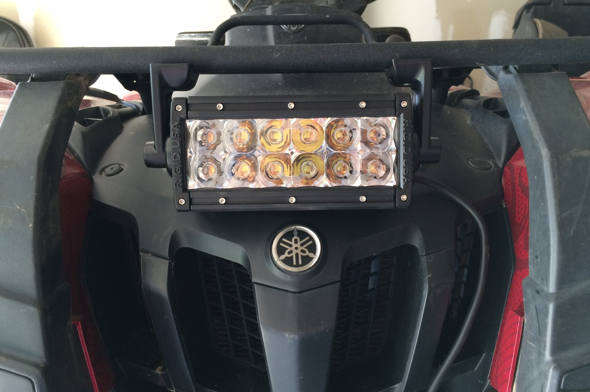 Rigid led lightbar placement. - Yamaha Grizzly ATV Forum