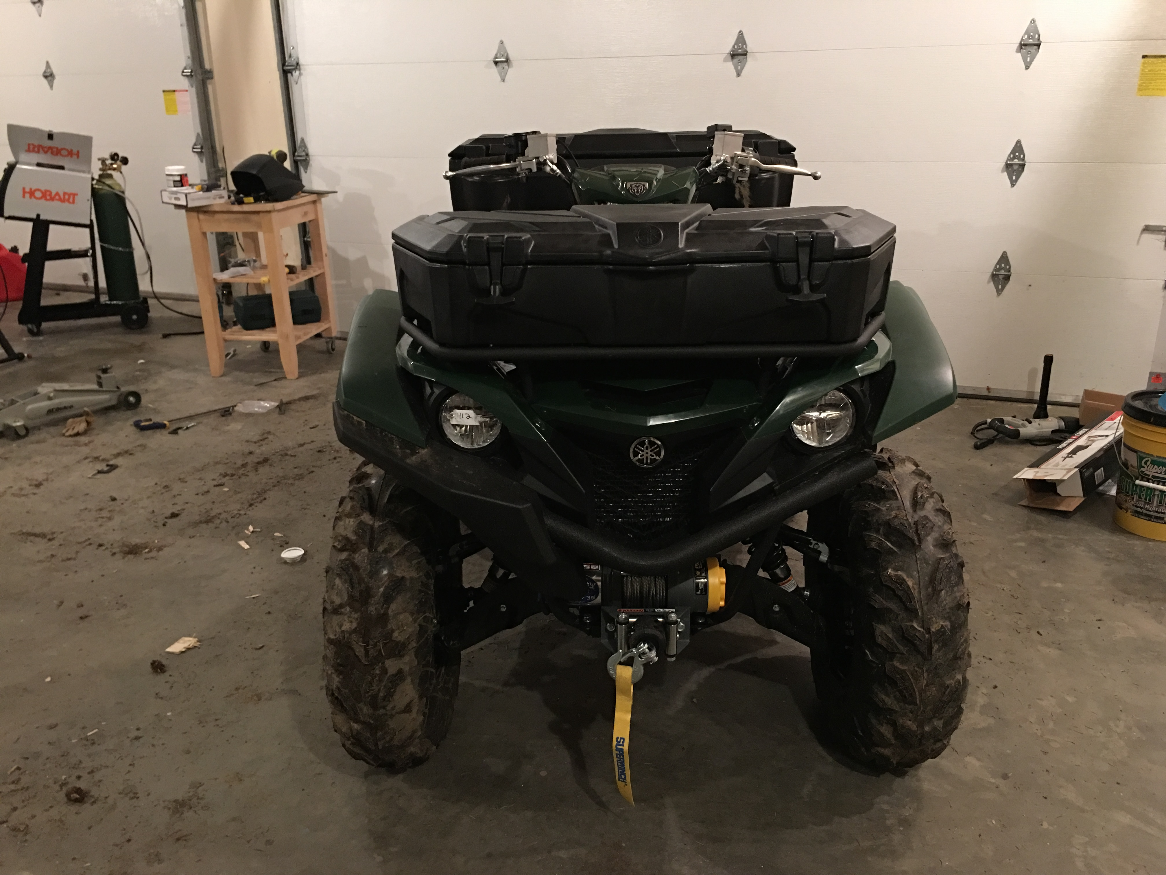 2017 Yamaha Grizzly >> Pics of front and rear factory cargo boxes for 2016 and up model - Yamaha Grizzly ATV Forum
