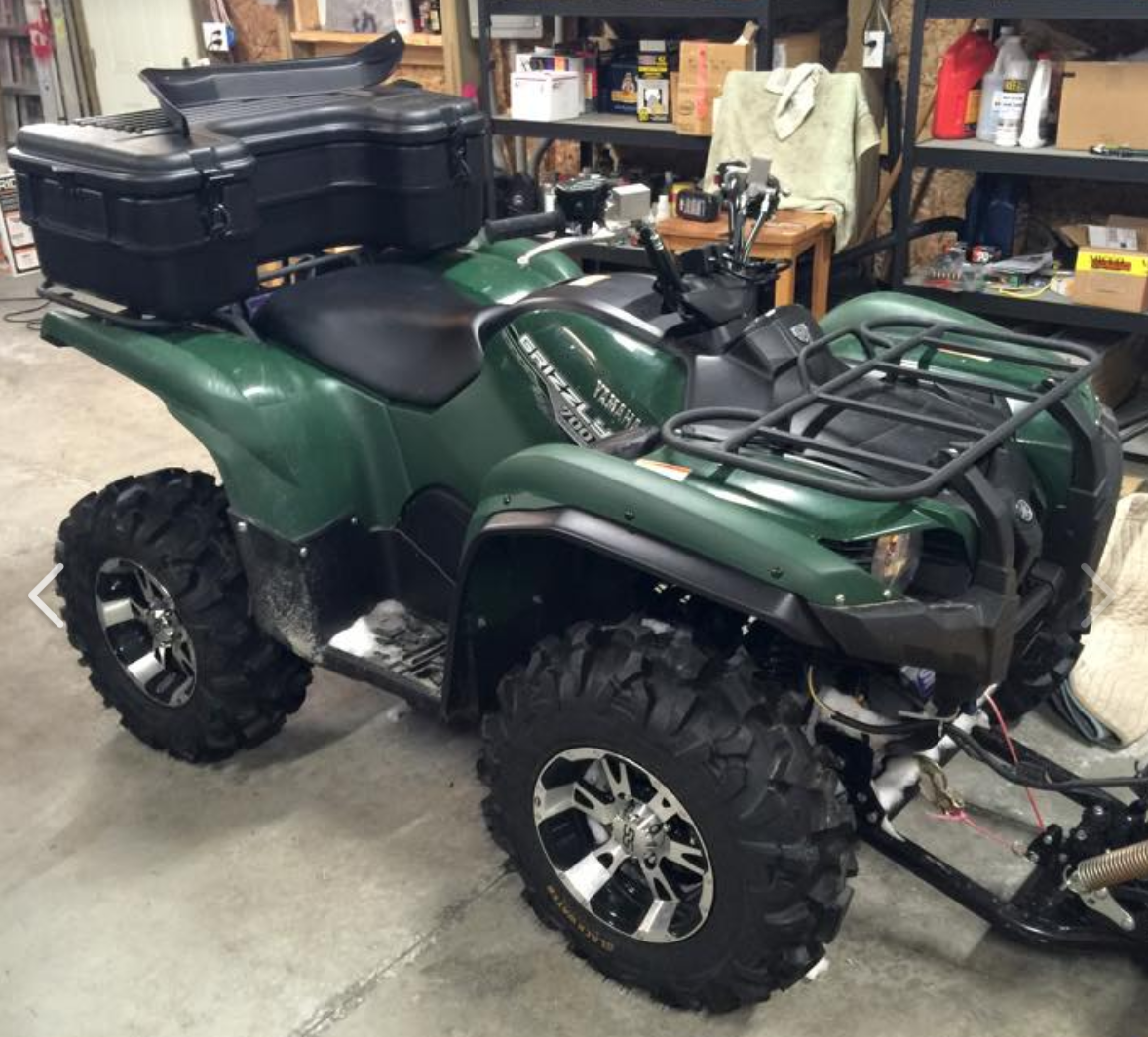 Yamaha Grizzly 700 For Sale >> Grizzly rear seat / box - Yamaha Grizzly ATV Forum