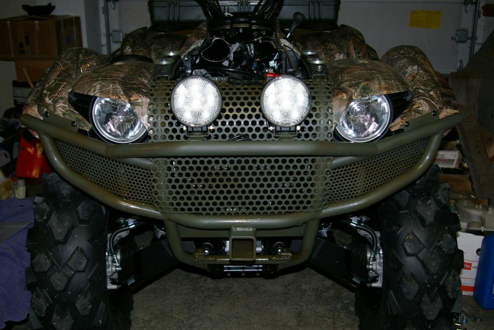 Modifyed grizzly yamaha hd front bumper yamaha grizzly atv forum click image for larger version name led lights on my grizzly 003g views sciox Image collections