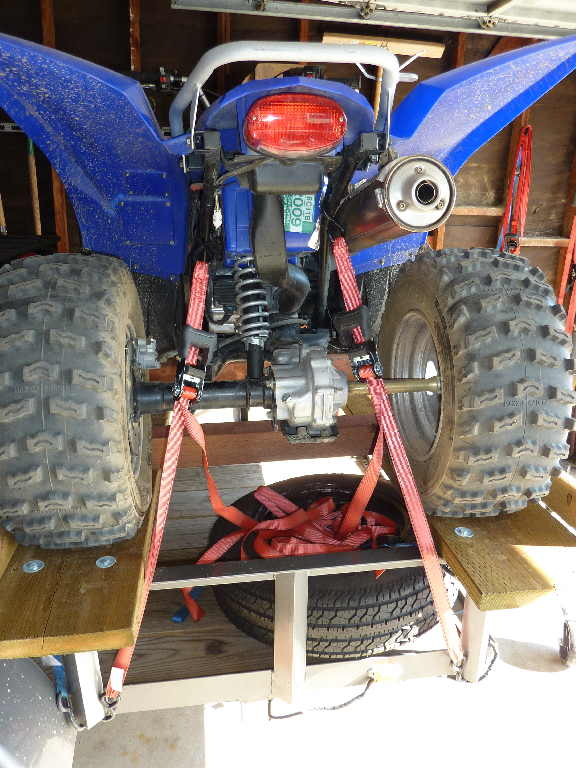 Atv Truck Ramps >> BEST WAY TO STRAP DOWN AN ATV - ACROSS TIRES OR ATV FRAME? - Yamaha Grizzly ATV Forum