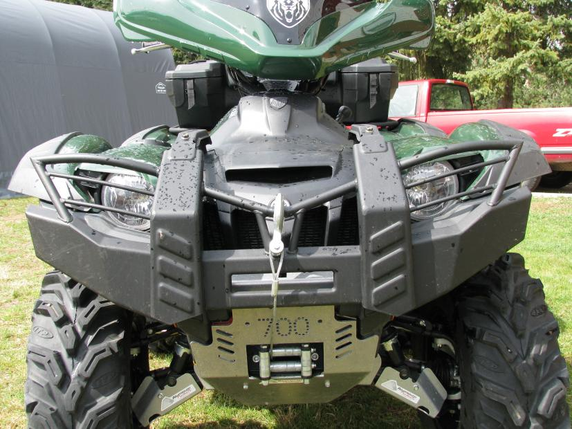 Aluminum products skid plates and warn bumper yamaha grizzly click image for larger version name parts 008g views 12106 size sciox Image collections