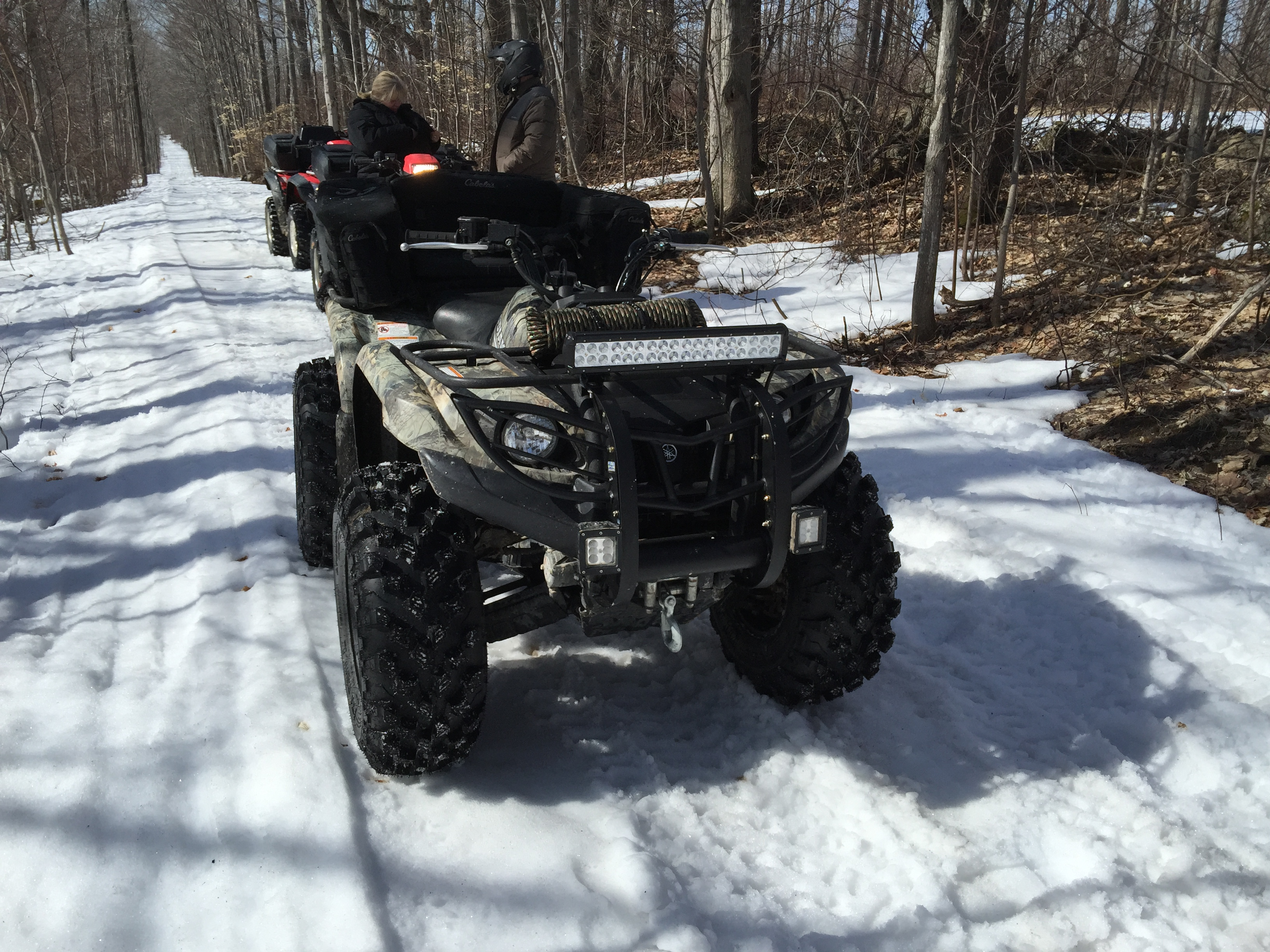 17 led light bar installed on 06 kodiak 450 yamaha grizzly atv click image for larger version name photo 2015 04 04 mozeypictures Image collections