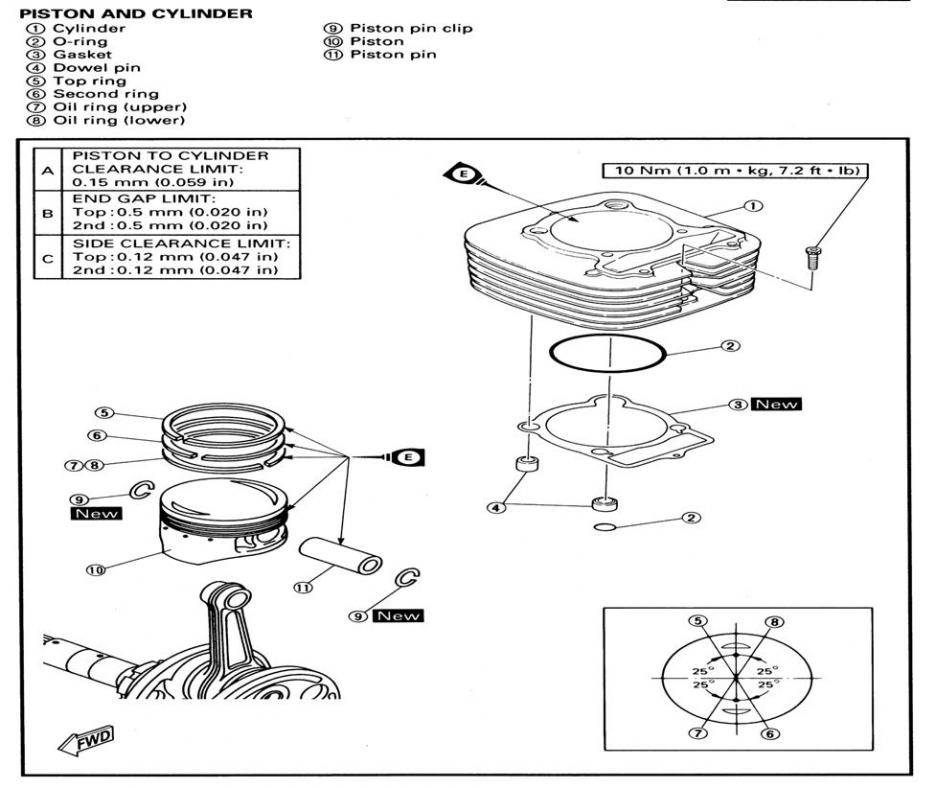 wiring diagram for the engine of a yamaha bruin 250   51
