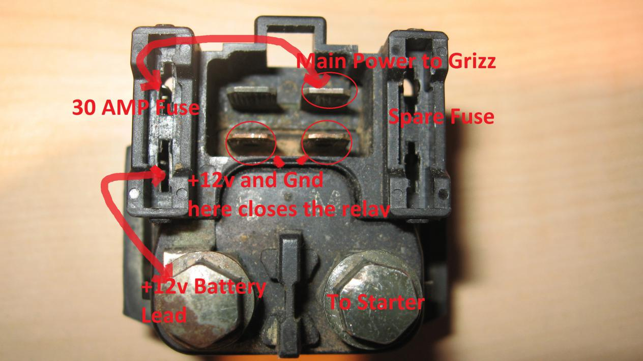 Starter Relay Solenoid 101 Yamaha Grizzly Atv Forum Wirer Winch Motor Wiring Diagram 2 Click Image For Larger Version Name Views 53546 Size 924