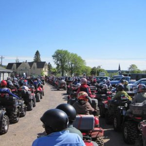 Poker Run. Over 250 atvs