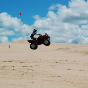 Airing the Grizz at Silver Lake Dunes, MI