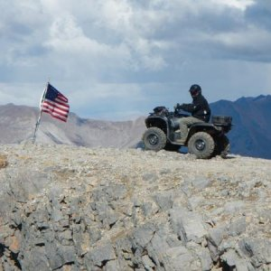 Day 5-116   On top of American Flag Mountain.  12,700 ft. of Awesome