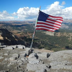 Day 5-118   360 degree view from the top of American Flag Mountain