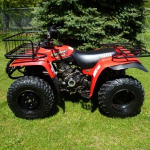 1998 YAMAHA BIG BEAR - ONE SIMPLE AND RUGGED ATV.  BOUGHT USED IN 2013 AND THE PICTURE WAS TAKEN RIGHT AFTER PURCHASE.  JUST LIKE NEW!  ALL ORIGINAL.
