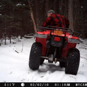 DATE ON TRAIL CAMERA WAS OFF...THIS WAS TAKEN IN 2016.  1998 YAMAHA BIG BEAR - ONE SIMPLE AND RUGGED ATV.